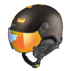 Snowboard helm met Vizier CP Carachillo Vulcano s.t. Maize Multicolour Mirror